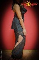 Tangosolar abbigliamento scarpe accessori Tango Top Anthony + pantalone Anthony in lycra e pizzo, nero