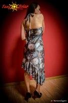 TangoSolar   Abito Anna - Lycra fantasia floreale esclusiva Torino abbigliamento da sera da cerimonia
