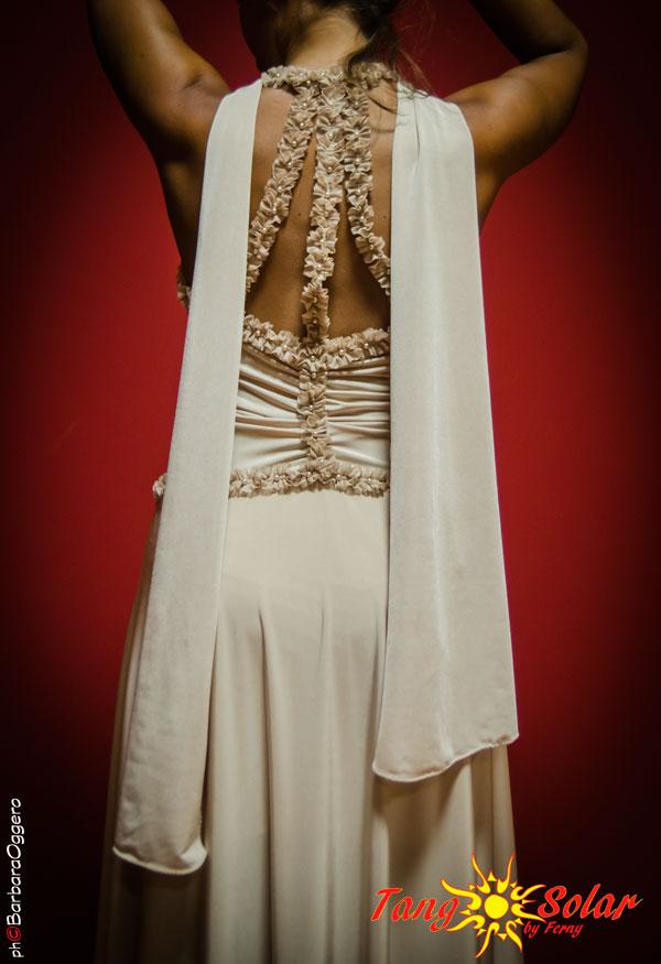 TangoSolar abbigliamento scarpe accessori Tango Abito Angela in lycra lucida e passameria con perle