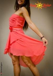 TangoSolar abbigliamento calzature accessori tango abito arte chiffon corallo abbigliamento da sera da cerimonia tempo libero moda giovane