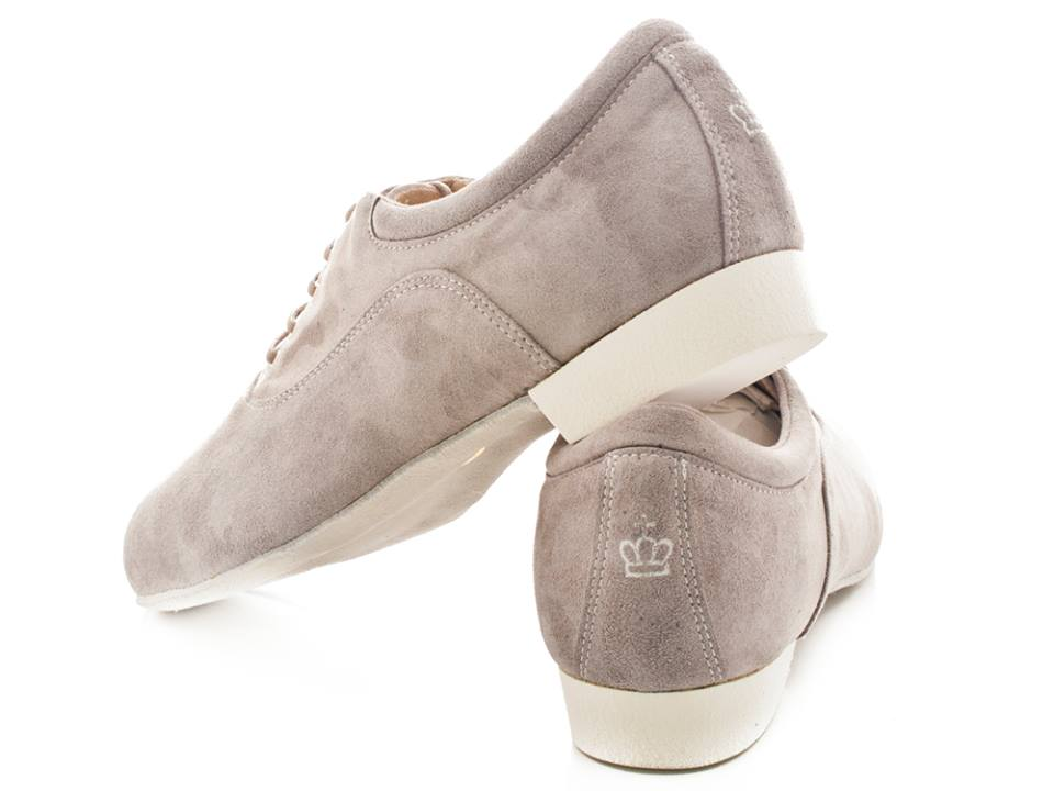 Regina Tango shoes uomo Modello Forte Camoscio grigio con suola bufalina TangoSolar esclusiva Torino