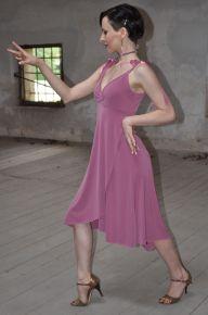 Torino Tangosolar abbigliamento esclusiva abito da sera da cerimonia da ballo Ineditotango Abito A-Satin diversi colori Jersey elasticizzato con spalline in satin regolabili; chiusura sovrapposta davanti