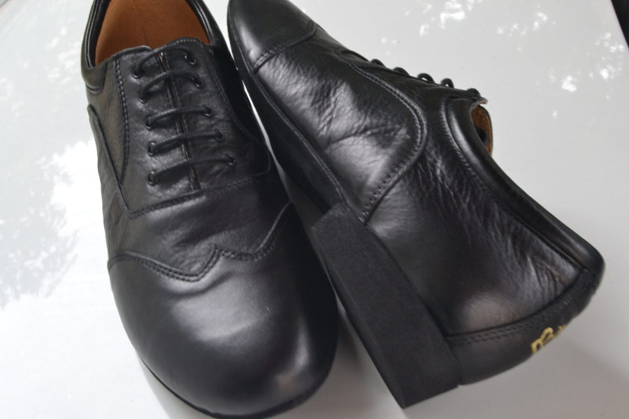 Regina Tango Shoes | Modello Borsalino uomo - Pelle, colore nero - Tacco: 2,5 cm Tangosolar negozio Torino esclusiva tacco comodo morbido
