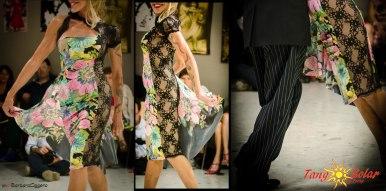 Regina Tango Wear abbigliamento Torino Abito fantasia Cannolo lycra pizzo nero abito da sera da ballo da cerimonia eleganza