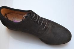 Regina Tango shoes | Modello Forte - Camoscio, colore nero con suola gaucho spezzata - Tacco: 2,5 cm Tangosolar uomo zapatos scarpa da ballo esclusiva Torino