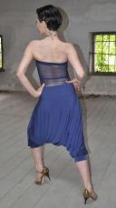 Ineditotango | Tuta Adele - Tinta lavanda, top con schiena trasparente e pantalone alla turca negozio esclusivo Torino Tangosolar abbigliamento Tango ballo tempo libero cerimonia sera