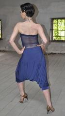 Ineditotango   Tuta Adele - Tinta lavanda, top con schiena trasparente e pantalone alla turca negozio esclusivo Torino Tangosolar abbigliamento Tango ballo tempo libero cerimonia sera