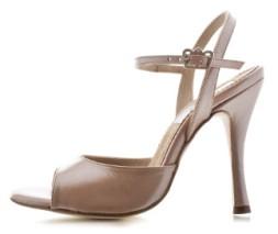 Tangosolar Torino negozio abbigliamento scarpe accessori tango e oltre esclusiva Torino Regina Tango Shoes | Modello Nizza color sahara (pelle, tallone aperto) - Tacco: 9 cm - Pianta: Normale - Suola: Cuoio