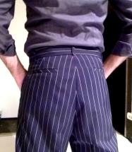 Ineditotango Pantalone tango uomo gessato Tangosolar Torino esclusivo
