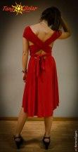 TangoSolar abbigliamento esclusivo Torino vestiti da sera abiti da ballo Torino Abito Andrea Lycra rosso, diverse vestibilità
