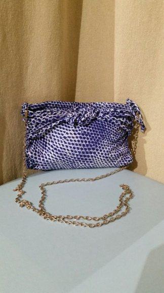 TangoSolar Accessori Pochette da sera borsetta tracolla maglia metallo oro tessuto pois preziosa ballare tango milonga esclusiva