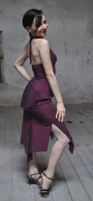Ineditotango Top lungo Ambra e Gonna spacco Anita tango milonga abiti da ballo abiti da danza esclusiva Tangosolar Torino