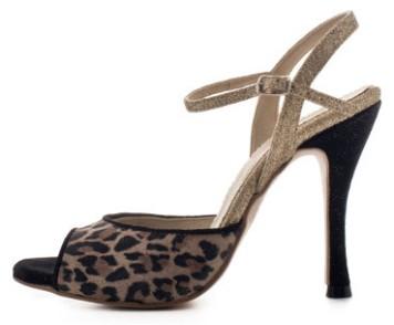 Regina Tango Shoes scarpe zapatos animalier scarpe con tacco alto per ballare danza leopardato esclusiva Torino TangoSolar Modello Alato