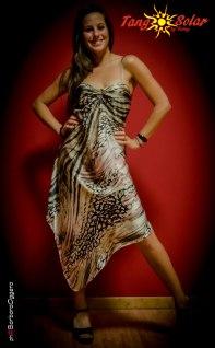 Tangosolar abito Arabella fantasia animalier Torino abiti da ballo abitio da sera abito sottoveste esclusiva