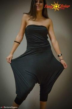 Tangosolar Tuta Alessia nero lycra ballare il tango Torino abiti da danza
