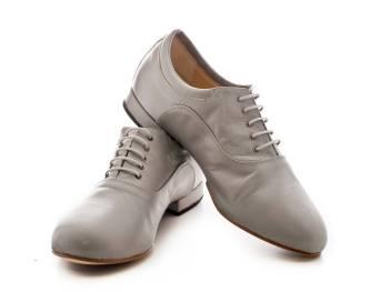 Regina Tango Shoes uomo Modello Forte bianco pelle morbidissima scarpe da ballo maschili tacco due centimetri zapatos esclusiva Torino TangoSolar