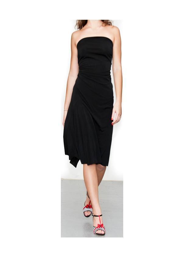 Regina Tango Wear abito flambé ballare tango abito da sera scarpe tango shoes zapatos scarpe tacco alto nero esclusiva TangoSolar Torino