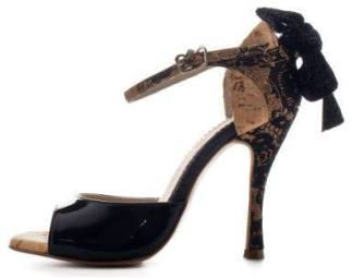 Regina Tango Shoes Modello Nizza vernice nera tacco alto ballare milonga Tangosolar esclusiva Torino