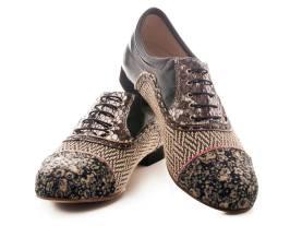 Regina Tango Shoes Modello Paolo uomo scarpe da ballo fantasia tacco 3 centimetri esclusiva TangoSolar Torino scarpe stringate suola cuoio
