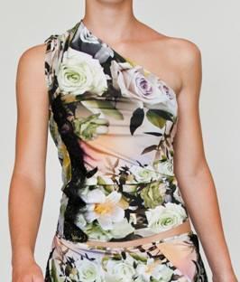 Regina Tango Wear Torino esclusiva TangoSolar abiti per ballare abiti da ballo abiti da sera Top floreale a una spalla
