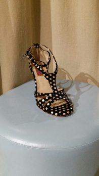 Regina Tango shoes scarpe tacco alto ballare milonga esclusiva Torino Tangosolar Tokyo nero pois bianco