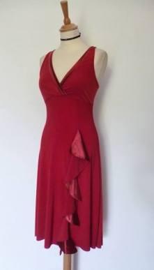 Ineditotango Tangosolar esclusiva Abito unico rosso ballare tango abiti da ballo abiti da sera abiti da gala