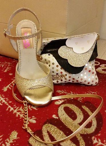Regina Tango Shoes and Wear scarpe e accessori Tango glitter oro