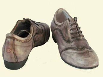 Regina Tango shoes uomo Tangosolar esclusiva tacco 3 cm effetto rovinato ballare tango milonga