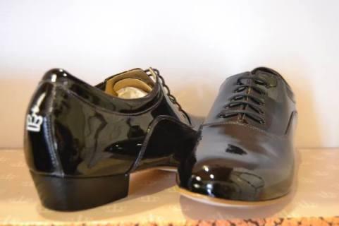 Regina Tango shoes uomo nero vernice ballare tango milonga Tangosolar esclusiva Torino