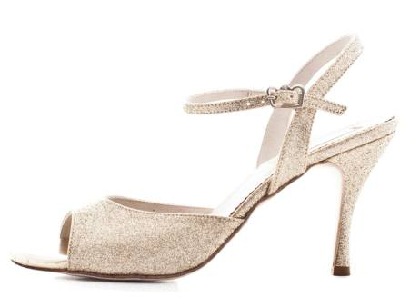 Regina Tango Shoes scarpe per ballare zapatos glitter silver argento