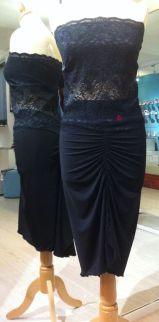Tangosolar completo nero corpetto pizzo decolté ballare tango abiti tango milonga completo nero