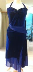 Ineditotango completo ciniglia blue notte tango ballare abiti top gonna tulle