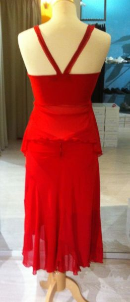 Ineditotango completo rosso top gonna tulle lycra ballare tango abiti tango completi tango