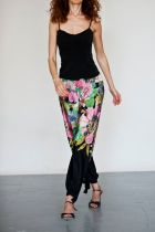 Regina Tango Wear Pantalone Orientale pantaloni da ballo canotta pantaloni floreali