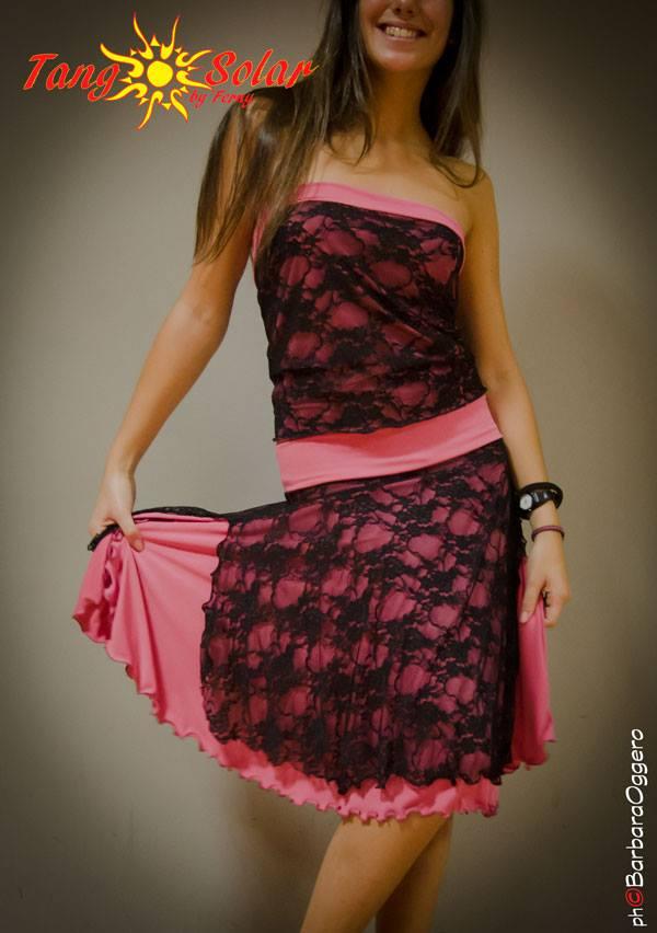 Barbara Oggero fotografia Tangosolar Completo ballare tango gonna top pizzo lycra