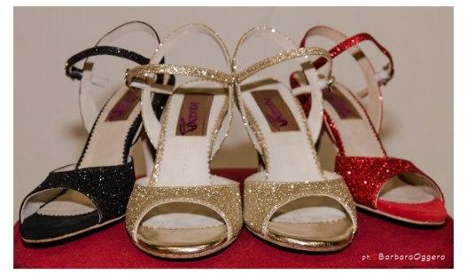 Regina Tango Shoes scarpe ballo tango milonga scarpe glitter colorate tango