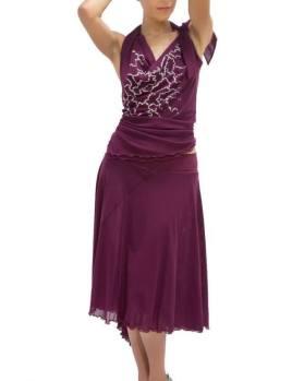 TangoSolar Torino abiti viscosa gonna top completi per ballare Ineditotango lycra vinaccia abbigliamento