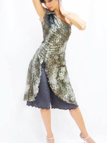Completo casacca pantalone Tangosolar fantasia negozio Torino modelli esclusivi ballare Tango da sera da gala da esibizione stilista personalizzato