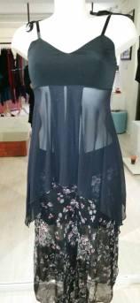 Ineditotango abbigliamento Torino Tangosolar negozio vestiti da sera da ballo occasioni speciali top trasparente e gonna pizzo