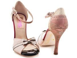 Regina Tango Shoes Mod. Maharaja zapatos tango milonga scarpe col fiocco tacco alto per ballare scarpa da danza esclusiva Torino TangoSolar Via Parma 29b
