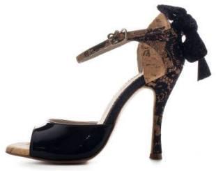 Regina Tango Shoes scarpe da ballo Nizza vernice nero sughero zapatos
