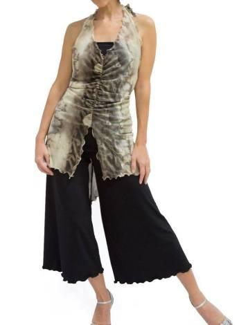TangoSolar completo pantalone top lungo fantasia ballare tango danza Torino esclusiva comodo elegante abiti da sera
