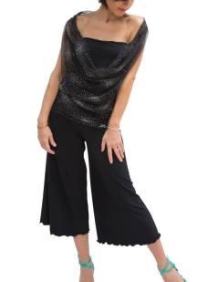 TangoSolar completo top lungo pantalone nero abbigliamento tango danza tempo libero eleganza comodità Torino