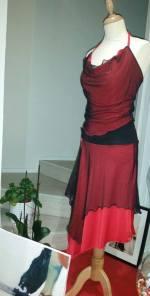 TangoSolar Torino negozio abbigliamento Tango completo gonna top rosso nero pizzo