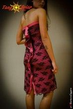 TangoSolar vestito bicolore pizzo nero da sera Tango cerimonia negozio esclusivo Torino