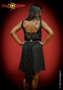 TangoSolar abito Torino Tango cerimonia vestiti da sera nero pizzo