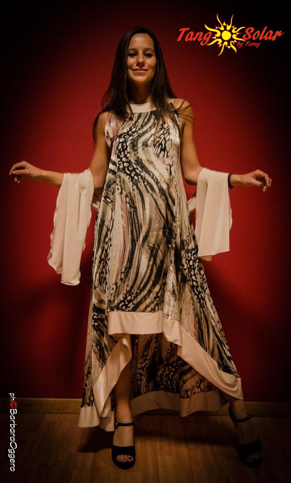 TangoSolar vestito fantasia con stola da sera Tango cerimonia negozio esclusivo Torino