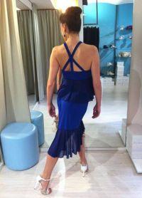 Completo Agave bluette con inserti tulle blu Ineditotango TangoSolar Torino negozio abbigliamento Tango da sera da cerimonia esclusiva abito