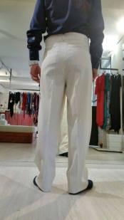 Ineditotango pantalone uomo classico gessato bianco TangoSolar Torino negozio abbigliamento Tango da sera eventi