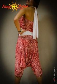 TangoSolar completo fantasia bianco rosso pantolone top da tango da sera da cerimonia abbigliamento casual esclusiva torino negozio aldobaraldo